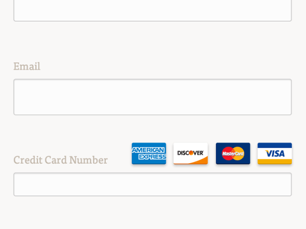 CSS Flat Credit Card Icons