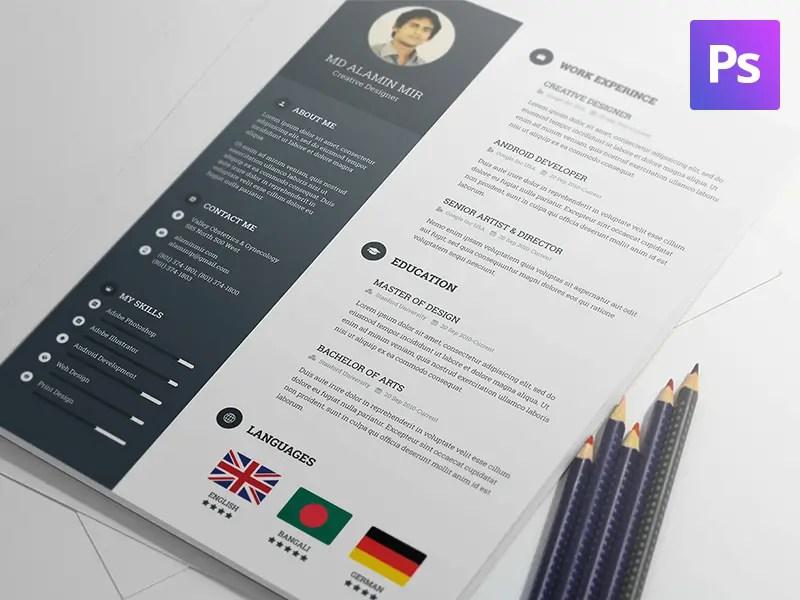 Good Free Resume Template PSD