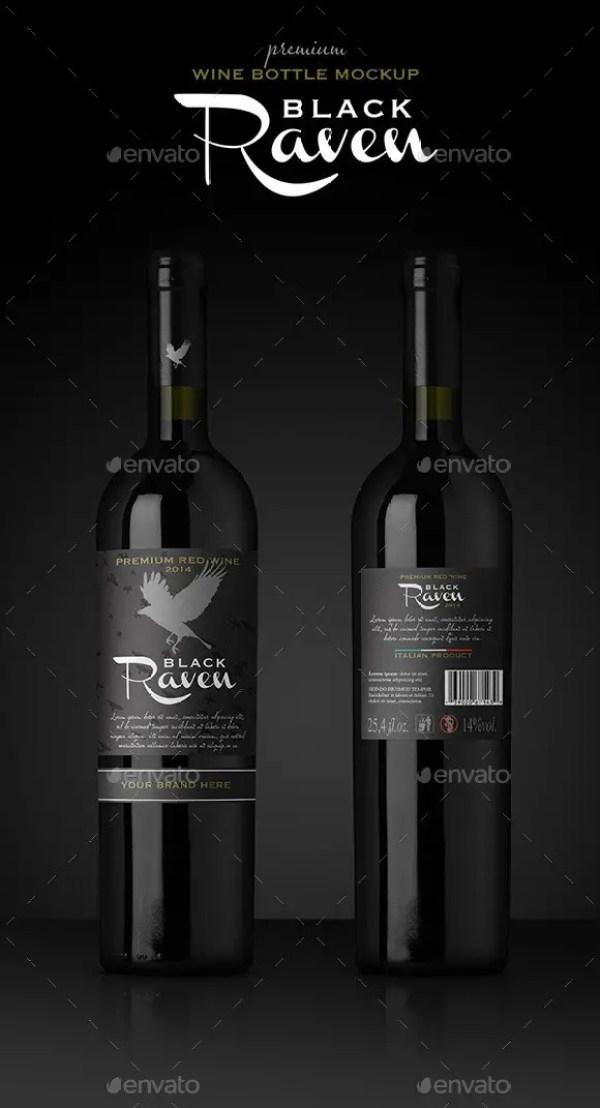 Premium Red Wine Mockup