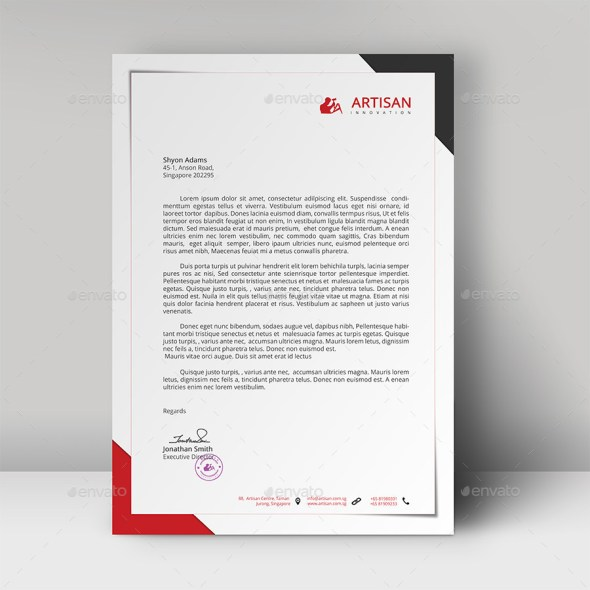 Professional Letterhead Sample Letterhead And Fax Templates