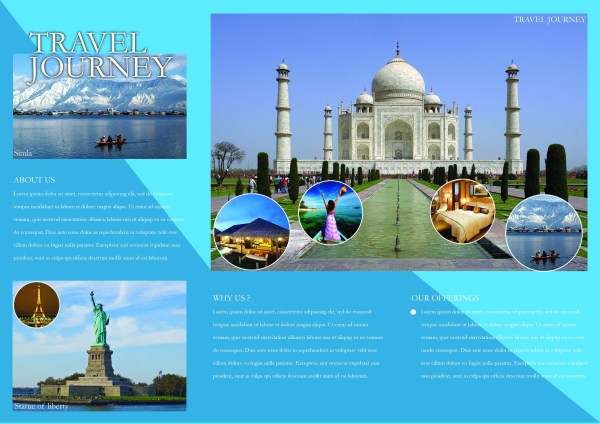word travel brochure template