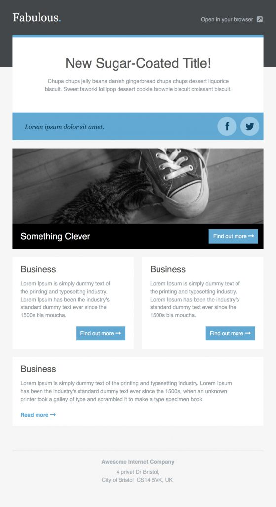 36+ Best Email Newsletter Templates - Free PSD  HTML Download