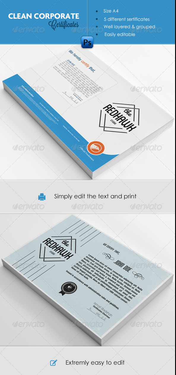 Certificate Templates Pack