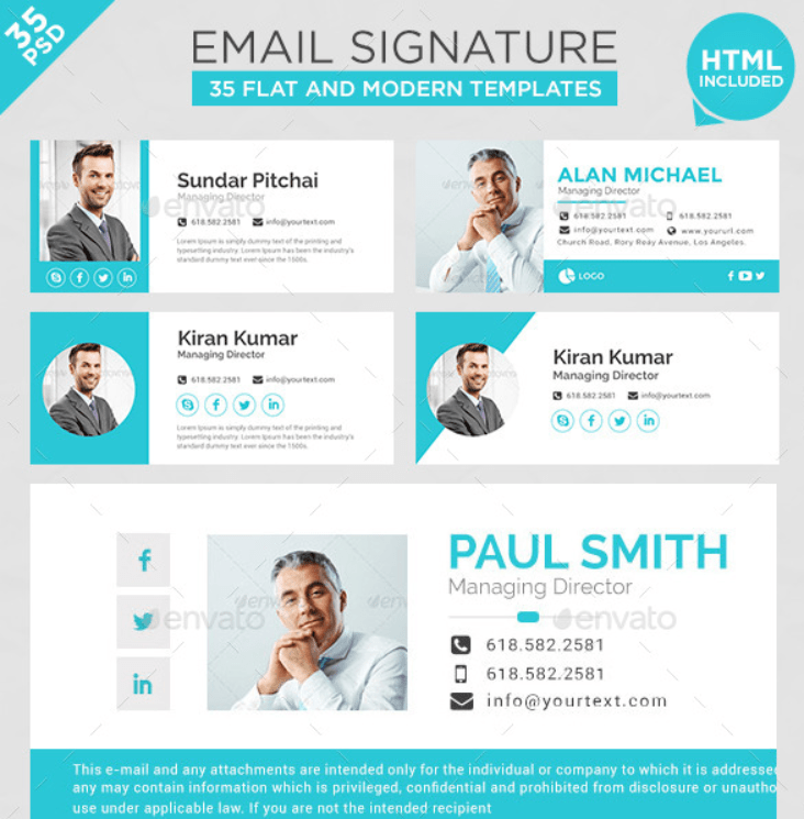 20+ Best Email Signature Templates - PSD & HTML Download ...