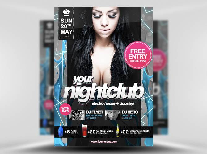 Free Nightclub Flyer Template