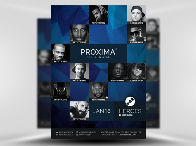 Proxima Free Flyer Template