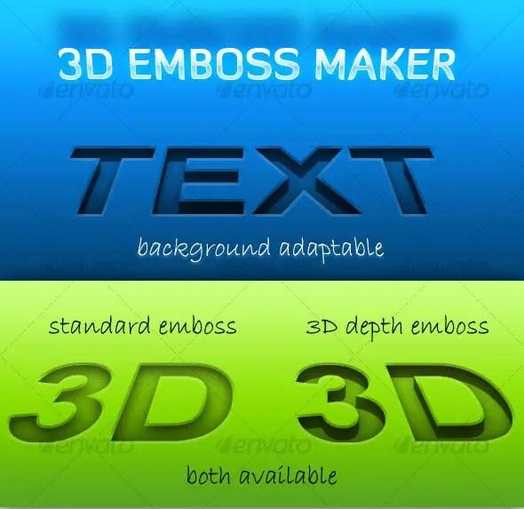 3D Emboss Maker