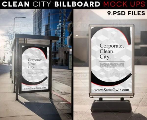 Clean City Advertising Billboard Mock-Ups