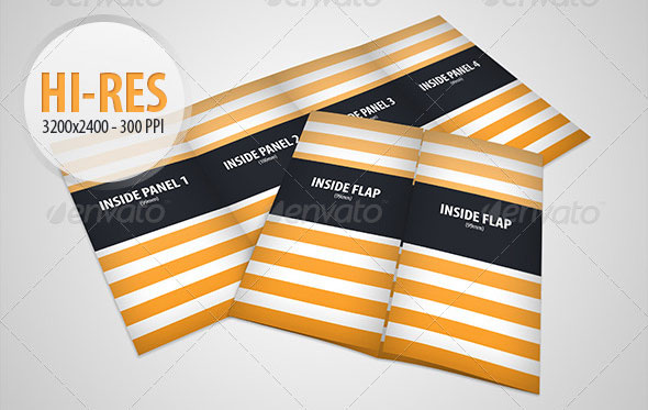 Gate Fold Brochure Mockup Pack