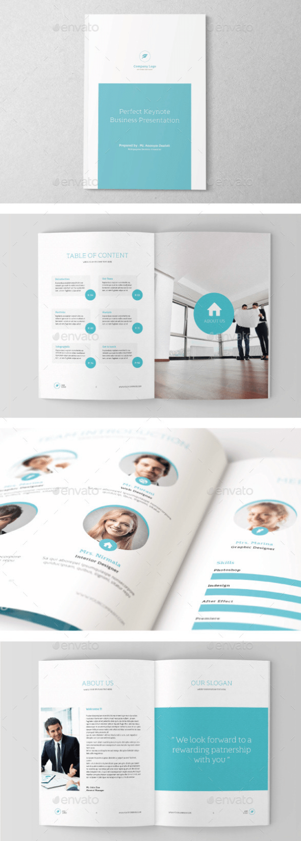 Letter 100 Page Business Brochure
