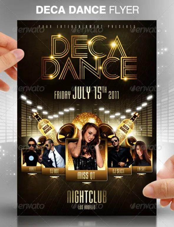 Deca Dance Party Flyer