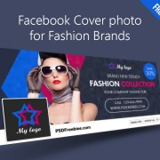 Free PSD Facebook Cover Template for Fashion Brands