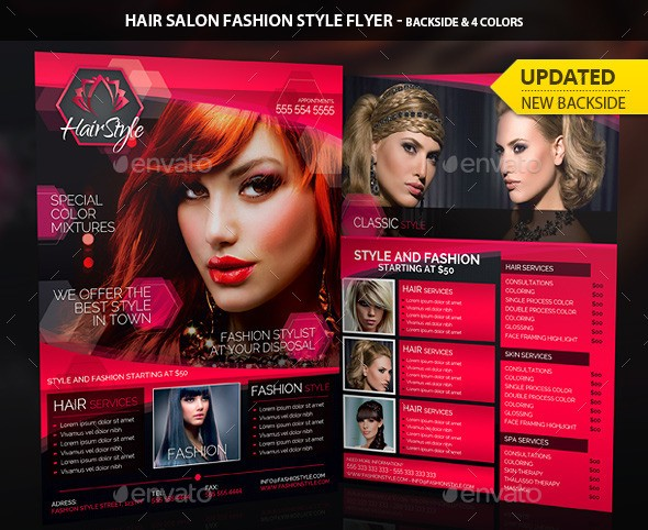 Hair Salon Fashion Style Business Flyer
