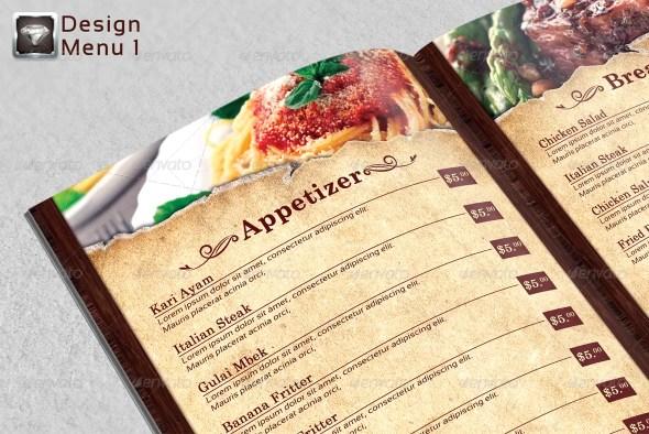 Modern Vintage Restaurant Menu Templates