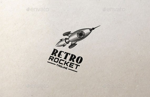 Retro Rocket Logo