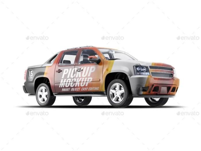 4X4 Pickup Truck Mockup