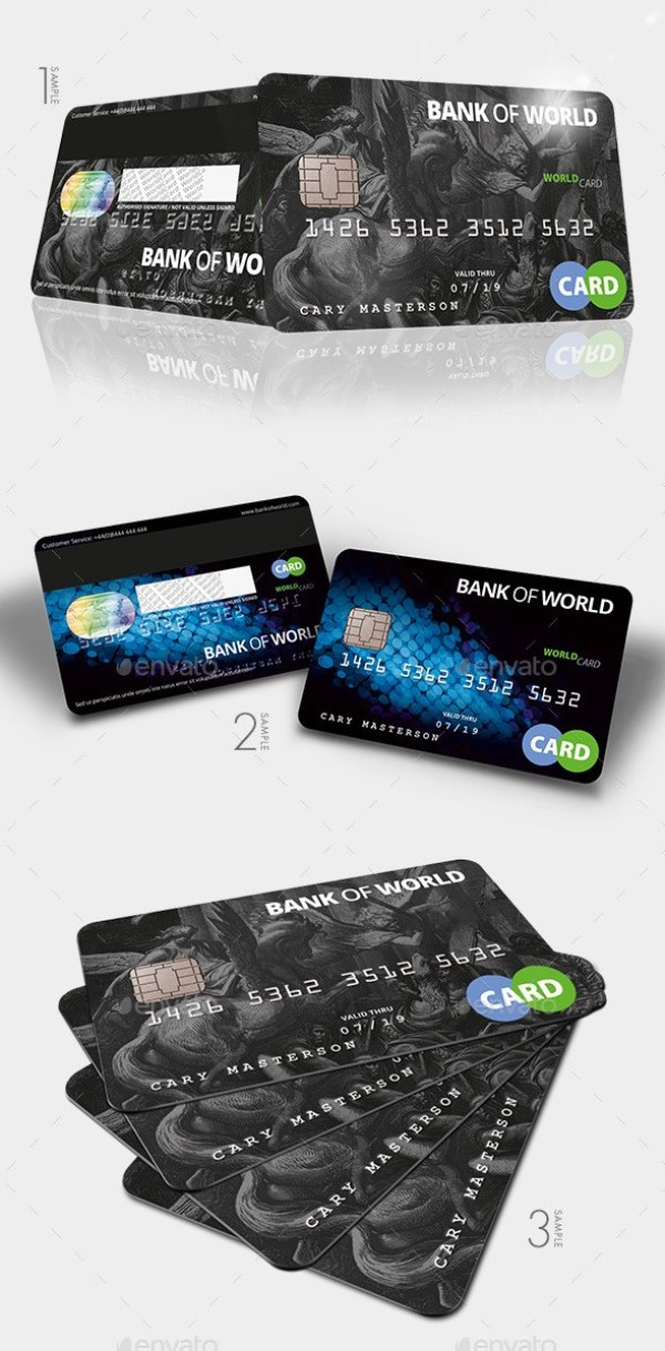 Bank Card / Credit Card CashCard Mockup