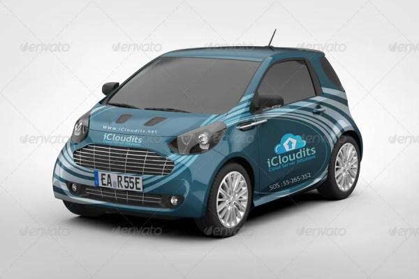 Car Branding Mockup V4
