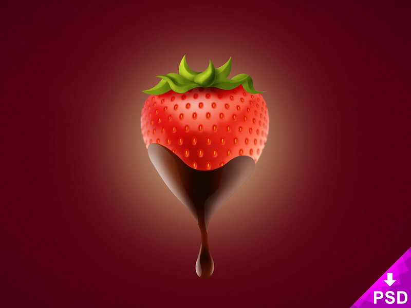 Chocolate Covered Strawberry PSD