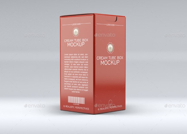 Cosmetics Tube & Cosmetics Box Mockup