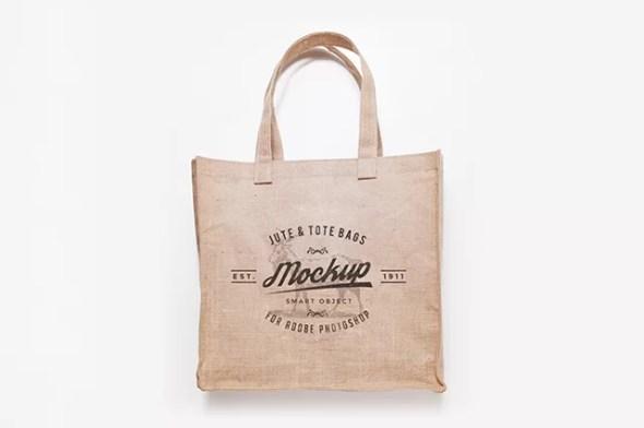 Free Jute & Tote Bags Mockup