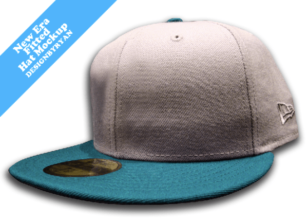 Free New Era Fitted PSD Hat Mockup