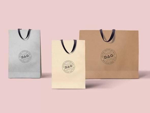 Free Shopping Bags Mockup