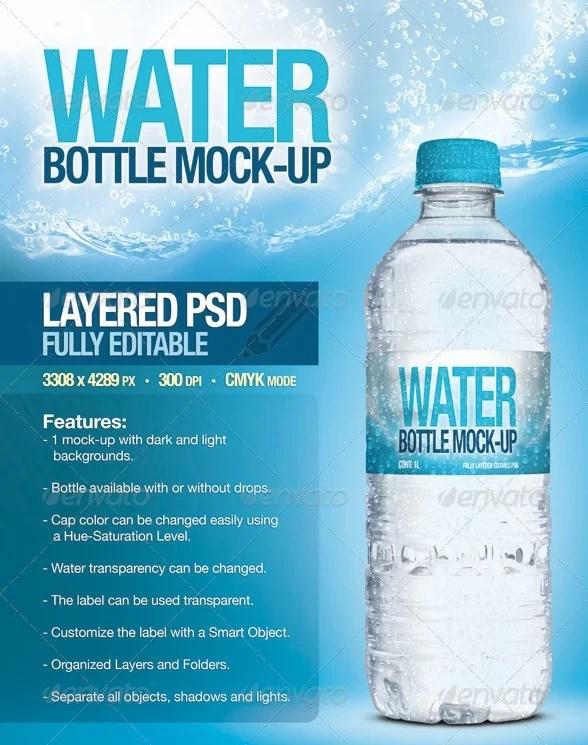 16+ Water Bottle Mockup PSD - High Quality Mockups Download ...