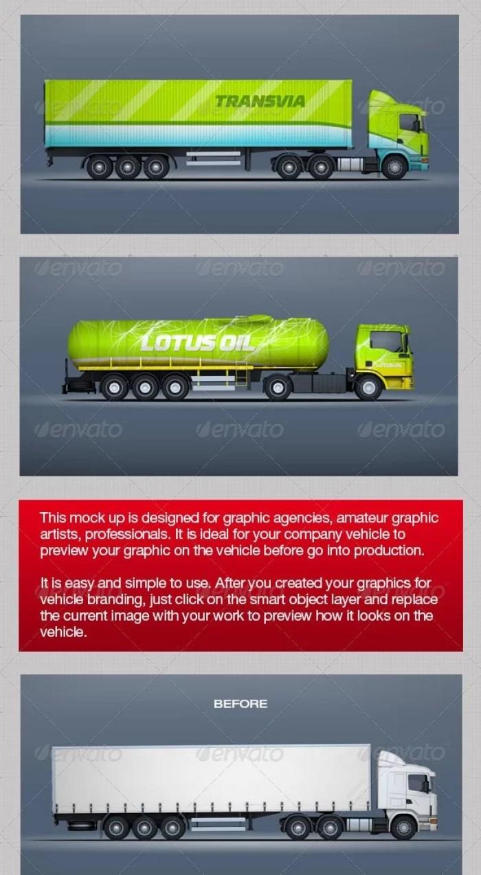 Mockup For Trucks & Trailers