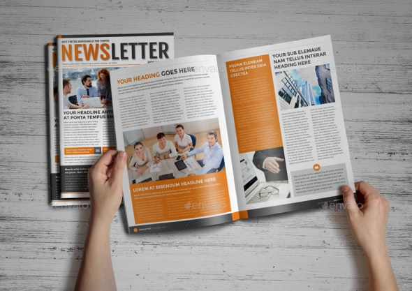 Indesign Newsletter Templates  BesikEightyCo