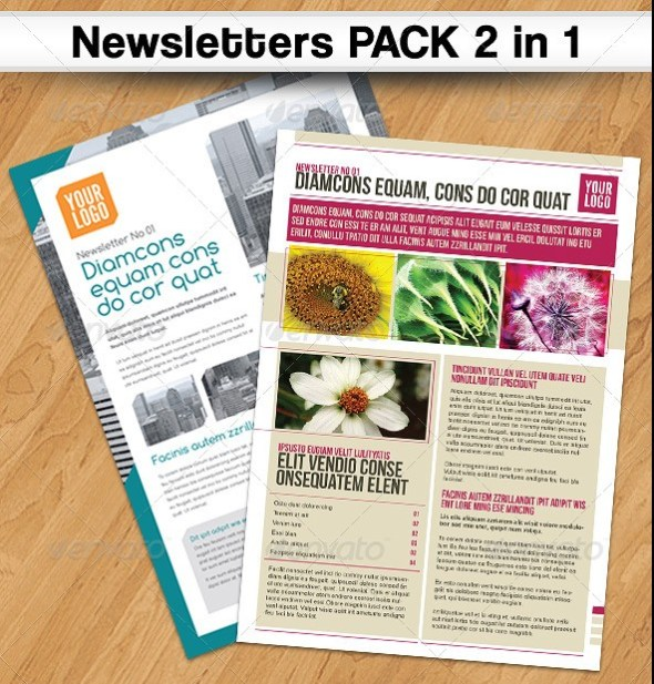 Newsletters PACK 2 in 1