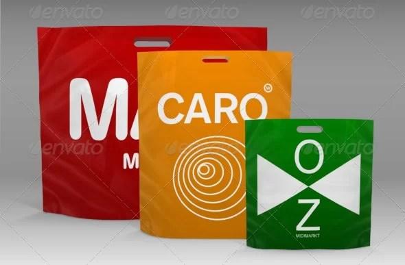 Shopping Plastic Bag Mockup