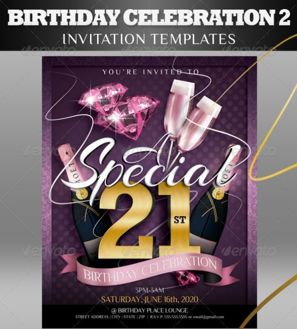 Birthday Invitation Templates 2