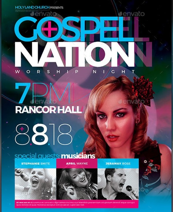 Gospel Nation Ticket Template