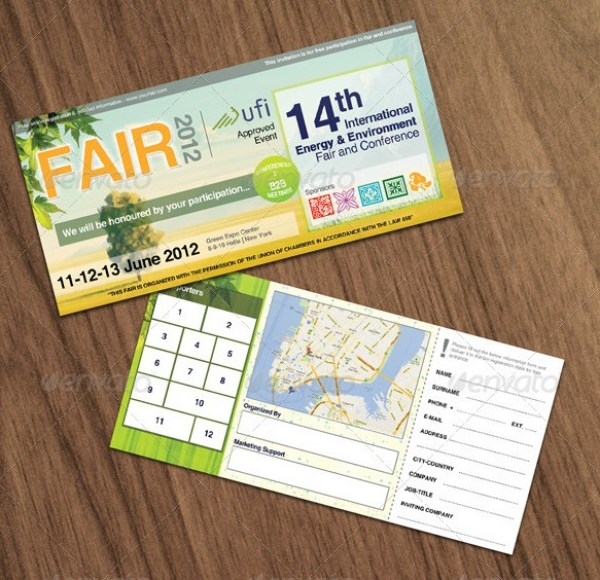 Green & Eco Fair Ticket Template