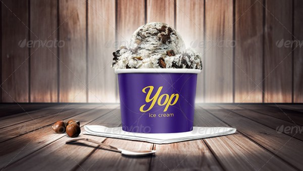 Photorealistic Ice Cream Cup Mockups