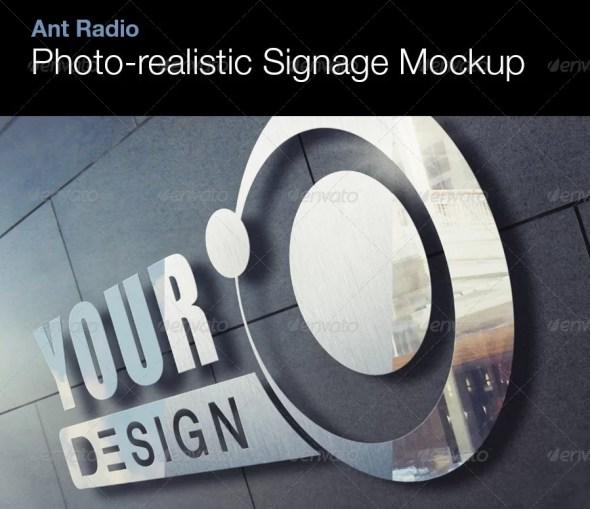 Photorealistic Metal Signage Mockup