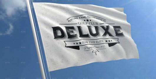 Realistic Flag Mockups