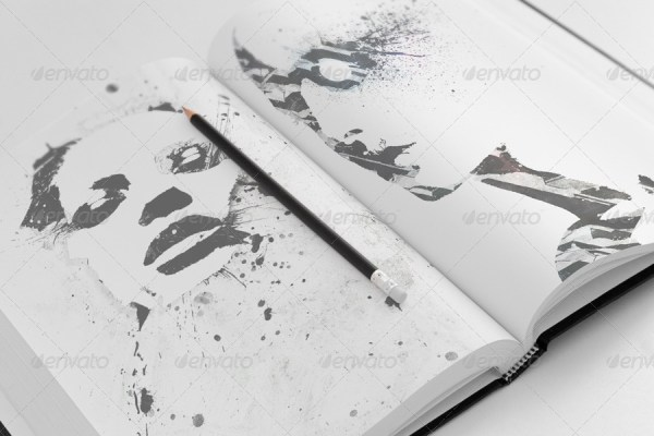 Sketch Book Mockups - Set 01