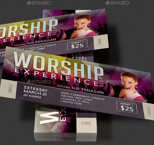 46+ Print Ready Ticket Templates PSD for Various Types of Events