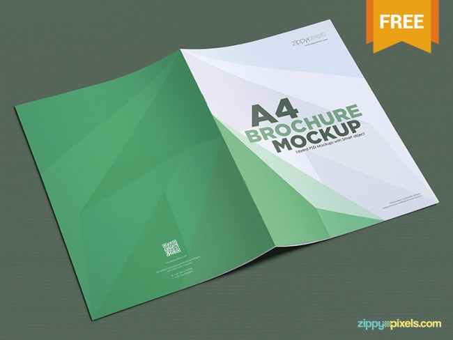 12 free brochure mockup psd download psdtemplatesblog for Brochure design mockup