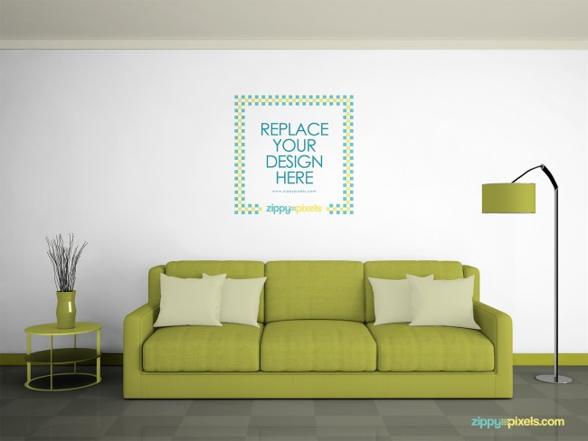 Wall Art MockUp PSD
