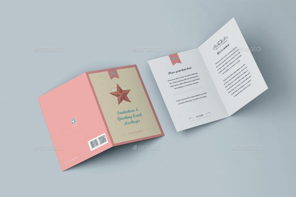 myGreeting Card Mock-up Bundle 1