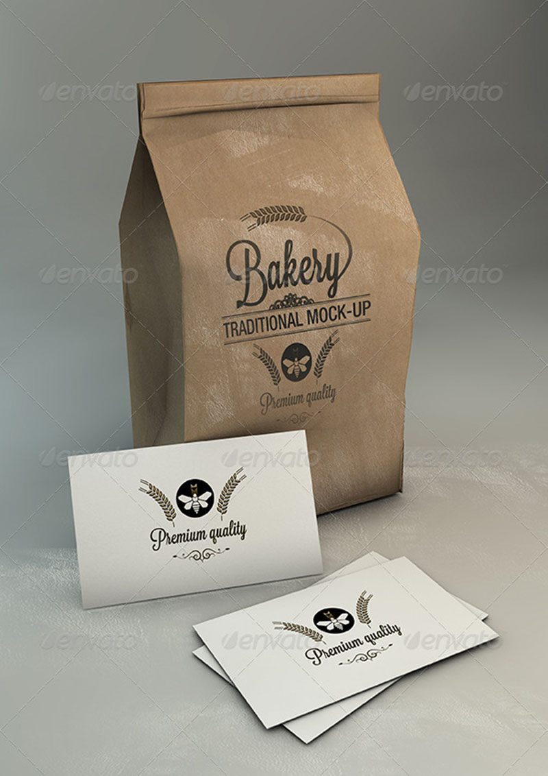 great coffee bag psd templates