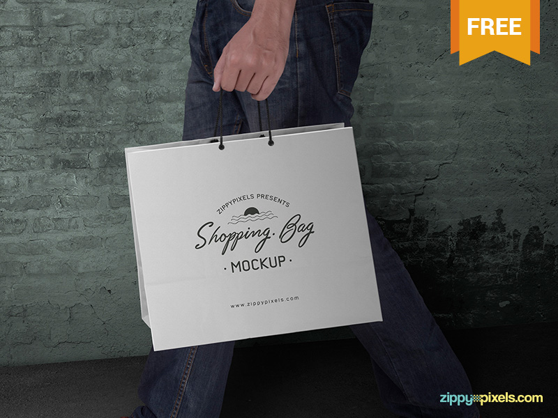 amazing mockup psd shopping bag