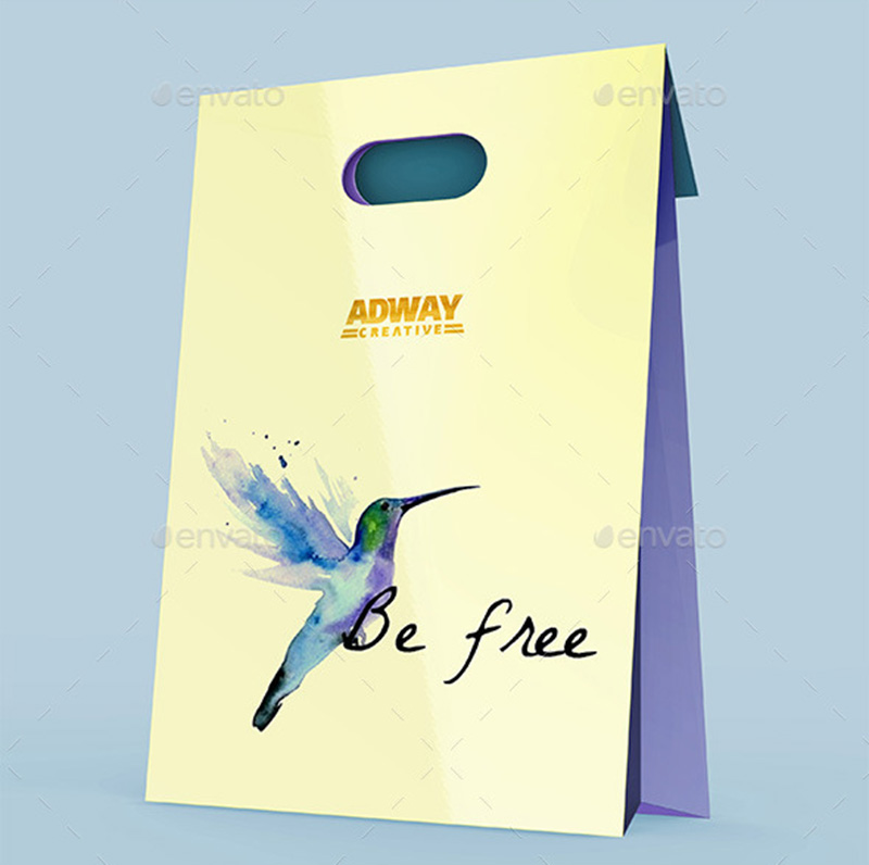 luxury premium psd template shopping bag mockup
