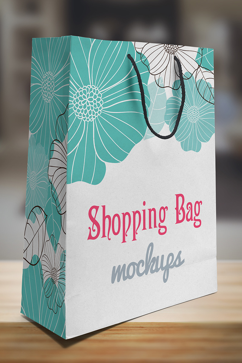 amazing shopping paper bag psd template