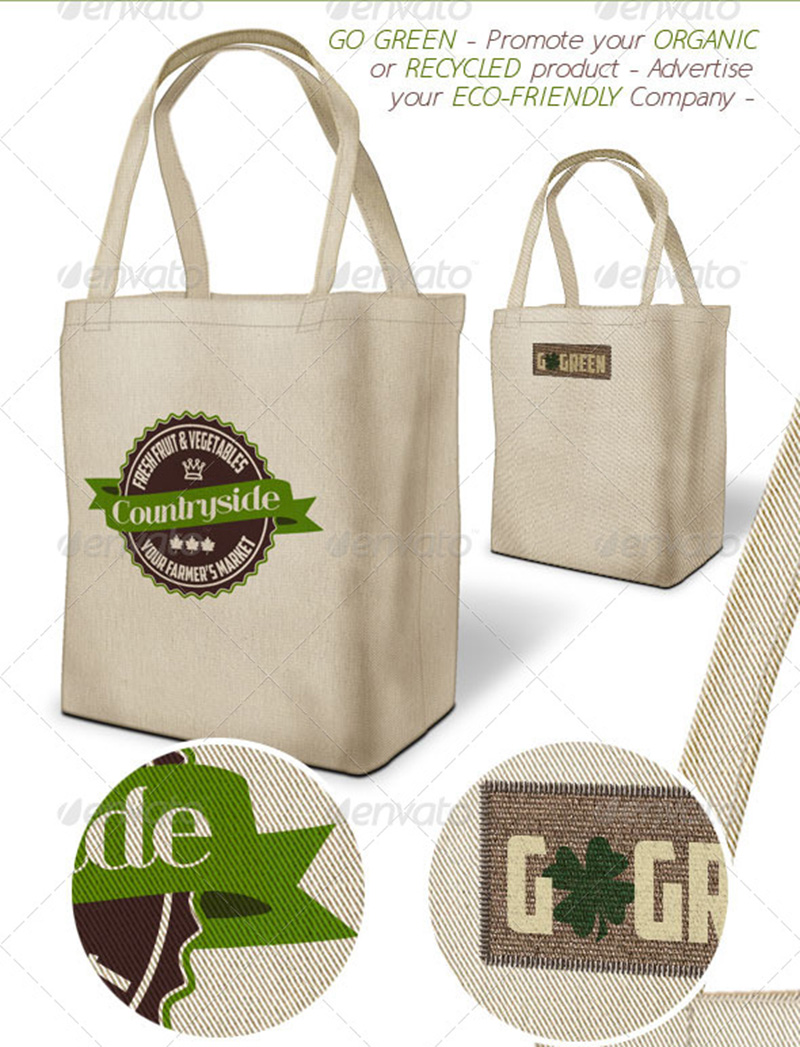 Eco=Friendly Shopping Bag Mockup Design Templates