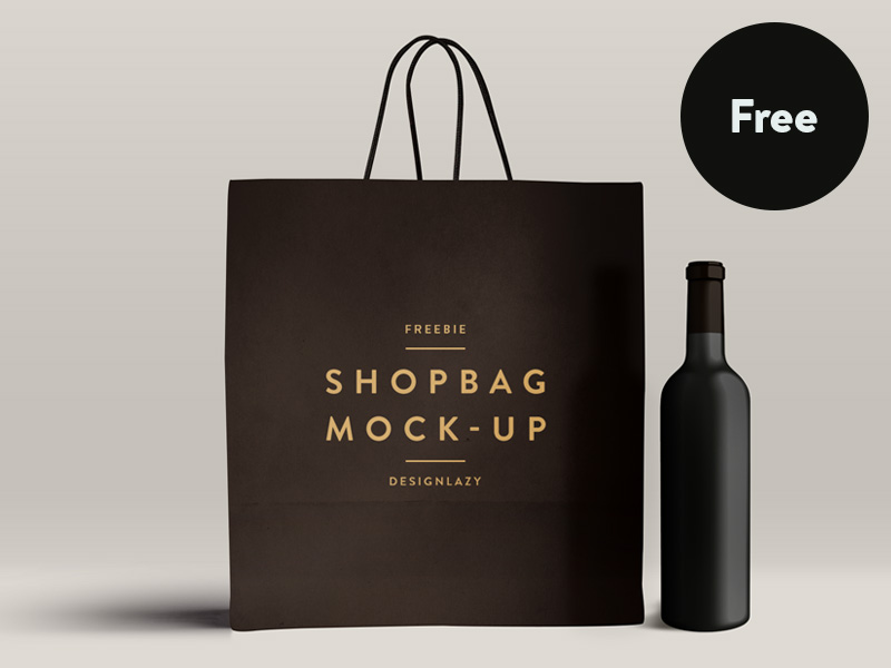 great free psd mockup shopping bag