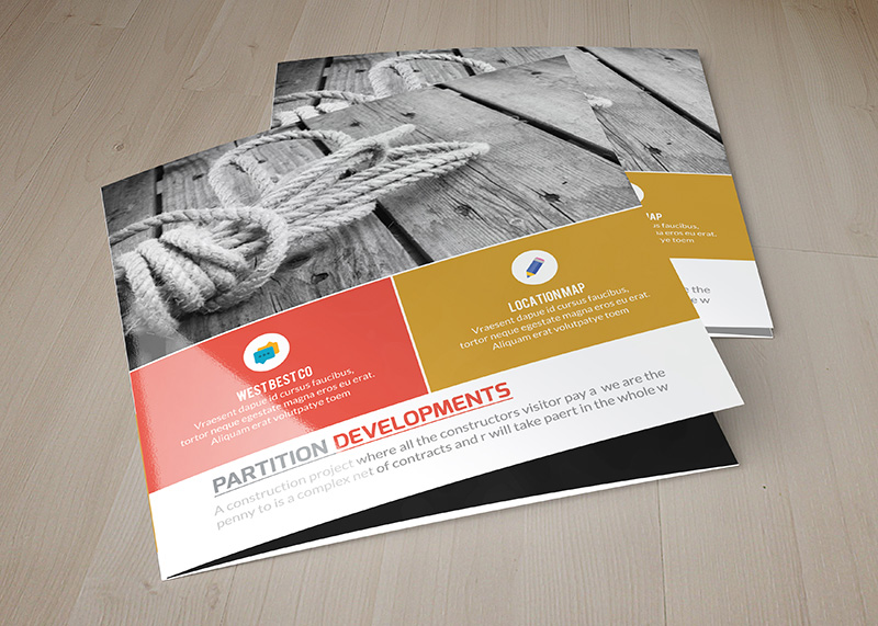 cool corporate flyer psd mockup square trifold